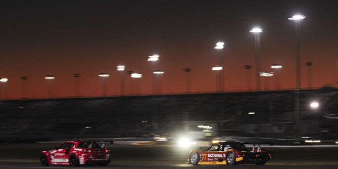 JAEGER LEADS THE 47th ANNUAL ROLEX 24 BEFORE ELECTRICAL PROBLEMS SIDELINE THE #77 McDONALD'S ENTRY