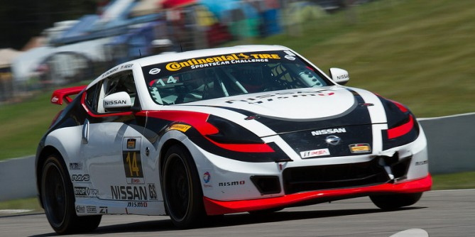 Doran Racing's #14 Nissan Leads at CTMP But a Top-10 Finish Slips Away at the End